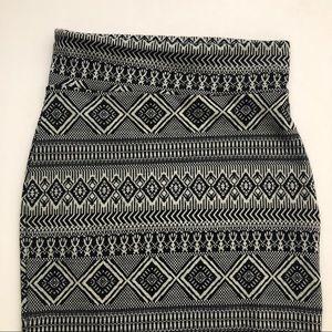River Island Printed Midi Pencil Skirt Sz 12
